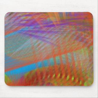 Colorful Carnival Lights Abstract Mouse Pad