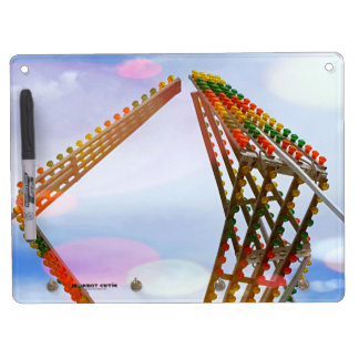 Colorful Carnival Sizzler Ride Lights and Skyline Dry Erase Board With Keychain Holder