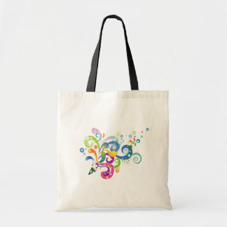 Colorful Carnival Streamers Budget Tote Bag