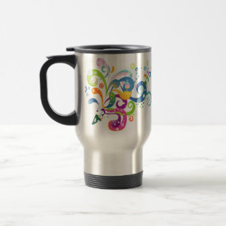 Colorful Carnival Streamers Design Mug