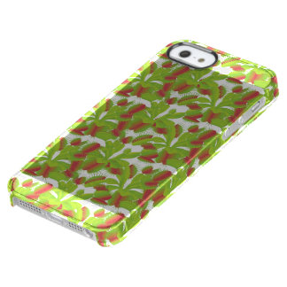 Colorful Carnivorous Venus Flytrap Pattern Uncommon Clearly™ Deflector iPhone 5 Case
