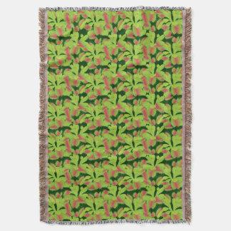 Colorful Carnivorous Venus Flytrap Pattern Throw Blanket