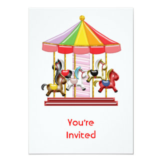 Colorful Carousel Card