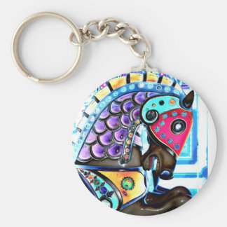 Colorful Carousel Horse 1 Keychain