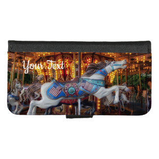 Colorful Carousel Horse and Merry Go Round iPhone 8/7 Wallet Case