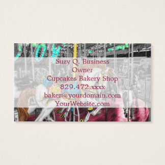 Colorful Carousel Horse at Carnival Business Card