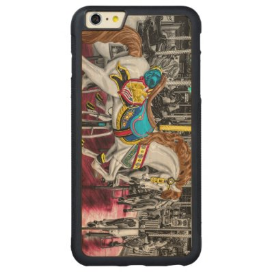 Colorful Carousel Horse at Carnival Carved® Maple iPhone 6 Plus Bumper