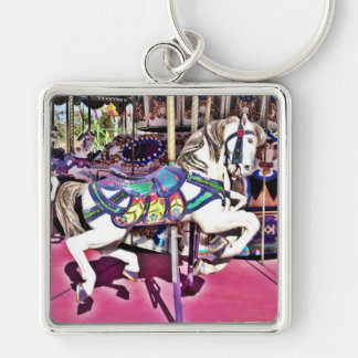 Colorful Carousel Horse at Carnival Photo Gifts Keychain