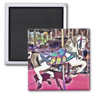 Colorful Carousel Horse at Carnival Photo Gifts Magnet