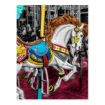 Colorful Carousel Horse at Carnival Postcard