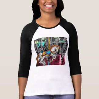 Colorful Carousel Horse at Carnival T Shirt