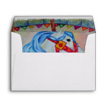 COLORFUL CAROUSEL HORSE ENVELOPE