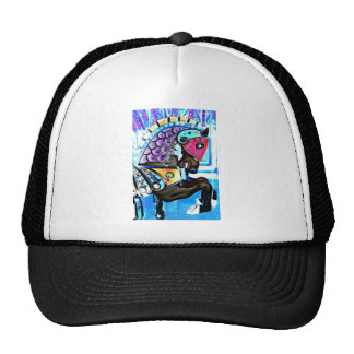 Colorful Carousel Horse Trucker Hat