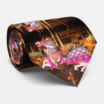 Colorful Carousel Horses Neck Tie