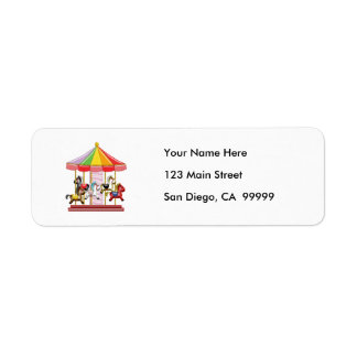 Colorful Carousel Label