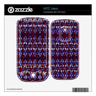 Colorful carpet pattern decals for the HTC hero