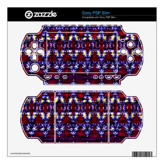 Colorful carpet pattern sony PSP slim decal