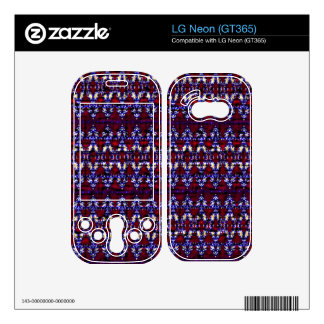 Colorful carpet pattern LG neon decals