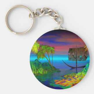 Colorful Carribean By David Wilder keychain
