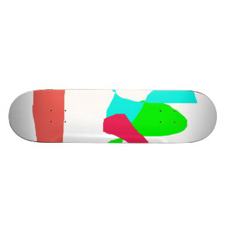 Colorful Carrots and Fire Skateboard