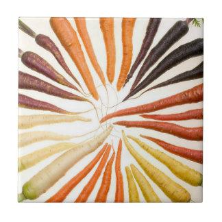 Colorful Carrots Ceramic Tile