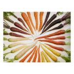 Colorful Carrots Poster