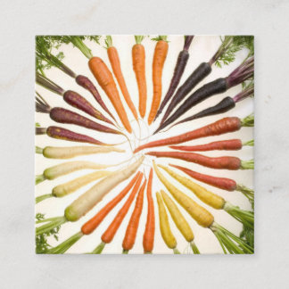 Colorful Carrots Square Business Card