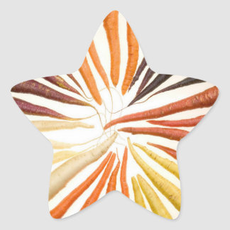 Colorful Carrots Star Sticker