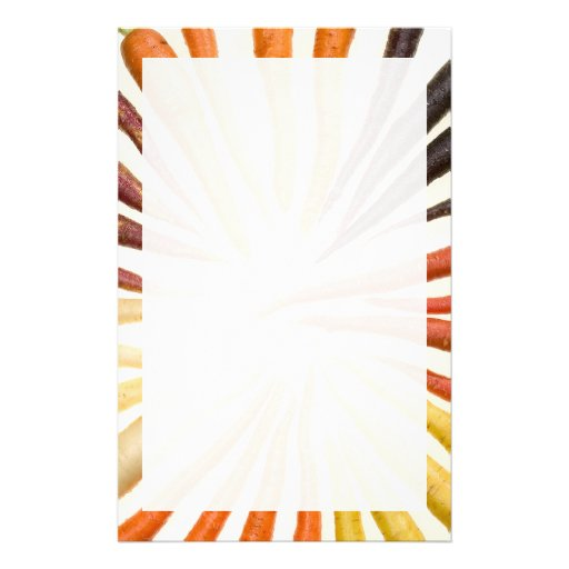 Colorful Carrots Stationery Paper