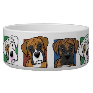Colorful Cartoon Boxers Bowl