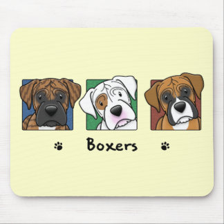Colorful Cartoon Boxers Mouse Pad