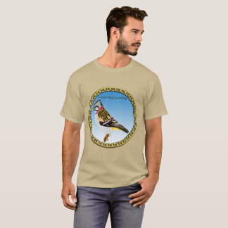 Colorful cartoon brown and yellow sparrow T-Shirt