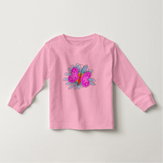Colorful Cartoon Butterfly Toddler T-shirt