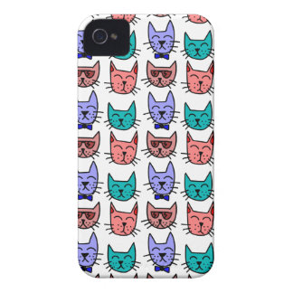 Colorful Cartoon Cats Case-Mate iPhone 4 Case