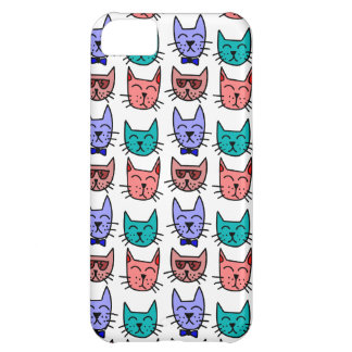 Colorful Cartoon Cats Cover For iPhone 5C