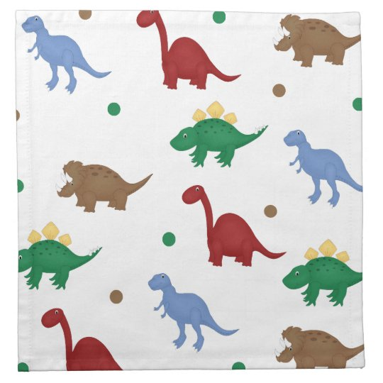 Colorful Cartoon Dinosaur Napkins