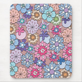 Colorful Cartoon Flowers Mousepads