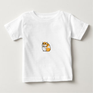 Colorful Cartoon Hamster with Big Eyes Baby T-Shirt