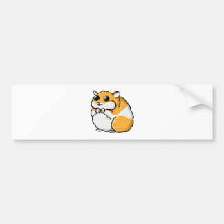 Colorful Cartoon Hamster with Big Eyes Bumper Sticker