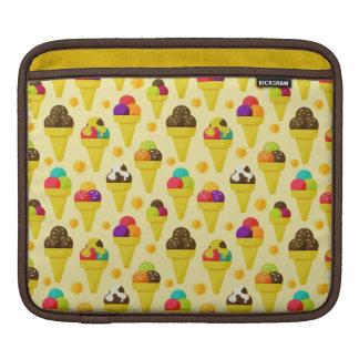 Colorful Cartoon Ice Cream Cones Sleeves For iPads