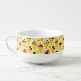Colorful Cartoon Ice Cream Cones Soup Mug