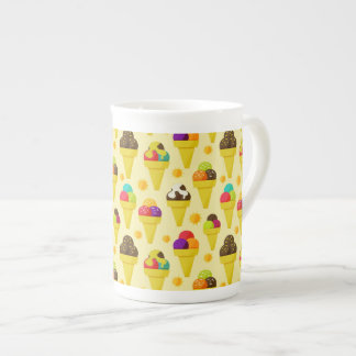 Colorful Cartoon Ice Cream Cones Tea Cup