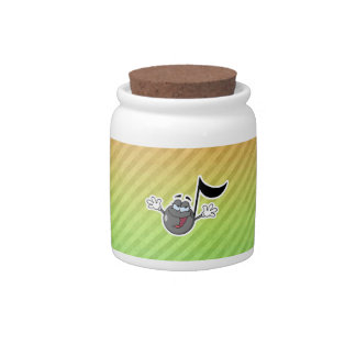 Colorful Cartoon Music Note Candy Jars
