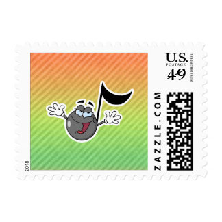 Colorful Cartoon Music Note Stamp