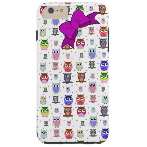 Colorful Cartoon Owl iPhone 6 Plus case