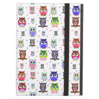 Colorful Cartoon Owls iPad Air Case