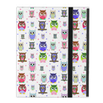 Colorful Cartoon Owls iPad Case