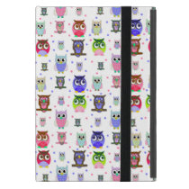 Colorful Cartoon Owls iPad Mini Case