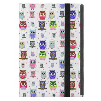 Colorful Cartoon Owls iPad Mini Case