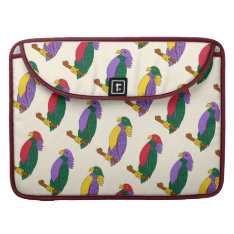 Colorful Cartoon Parrots Sleeve For Macbooks at Zazzle